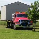 small storage building moving